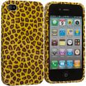Apple iPhone 4 / 4S Yellow Leopard TPU Design Soft Case Cover Angle 2