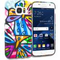 Samsung Galaxy S7 Rainbow Butterfly TPU Design Soft Rubber Case Cover Angle 1