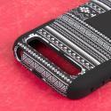 BlackBerry Classic - Black Aztec MPERO IMPACT X - Kickstand Case Cover Angle 6