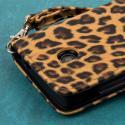Nokia Lumia 635 - Studded Leopard MPERO FLEX FLIP Wallet Case Angle 7