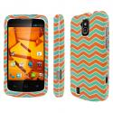 ZTE Force - Mint Chevron MPERO SNAPZ - Rubberized Case Cover Angle 1