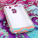 ZTE Force - Mint Chevron MPERO SNAPZ - Rubberized Case Cover Angle 2