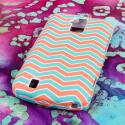 ZTE Force - Mint Chevron MPERO SNAPZ - Rubberized Case Cover Angle 3