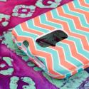 ZTE Force - Mint Chevron MPERO SNAPZ - Rubberized Case Cover Angle 6