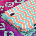 ZTE Force - Mint Chevron MPERO SNAPZ - Rubberized Case Cover Angle 7