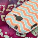 Samsung Gravity Q - Mint Chevron MPERO SNAPZ - Rubberized Case Cover Angle 7