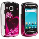Samsung Doubletime i857 Purple Love Design Crystal Hard Case Cover Angle 1
