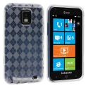 Samsung Focus S i937 Clear Checkered TPU Rubber Skin Case Cover Angle 1