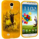 Samsung Galaxy S4 Deer TPU Design Soft Case Cover Angle 1