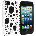 Apple iPhone 5/5S/SE White / Black Hybrid Bubble Hard/Soft Skin Case Cover Angle 2