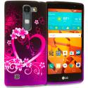 LG Volt 2 LS751 Purple Love TPU Design Soft Rubber Case Cover Angle 1