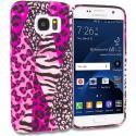 Samsung Galaxy S7 Bowknot Zebra TPU Design Soft Rubber Case Cover Angle 1