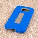 Samsung Galaxy S6 - Blue MPERO IMPACT XS - Kickstand Case Cover Angle 3