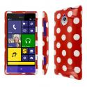 HTC 8XT - Red Polka Dots MPERO SNAPZ - Glossy Case Cover Angle 1