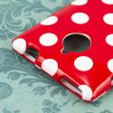 HTC 8XT - Red Polka Dots MPERO SNAPZ - Glossy Case Cover Angle 6
