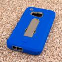 HTC One M9 - Blue MPERO IMPACT XS - Kickstand Case Cover Angle 3