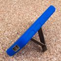 HTC One M9 - Blue MPERO IMPACT XS - Kickstand Case Cover Angle 4