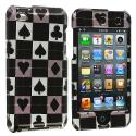 Apple iPod Touch 4th Generation Poker Design Crystal Hard Case Cover Angle 1