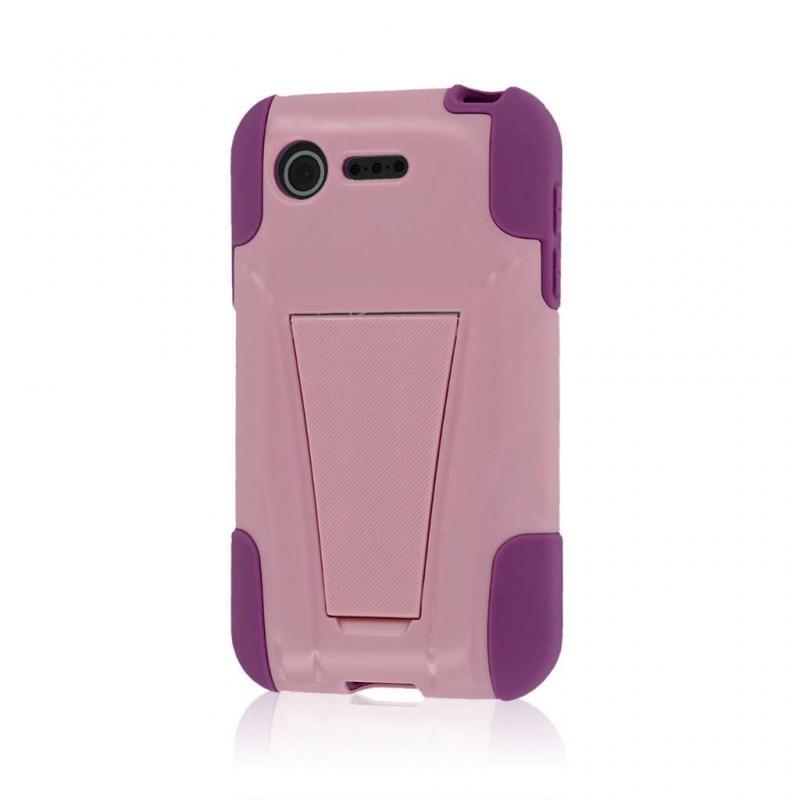 LG Optimus Zone 2 - Pink MPERO IMPACT X - Kickstand Case Cover Angle 1