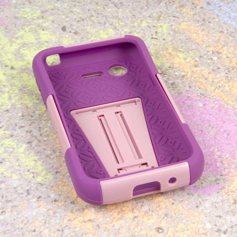 LG Optimus Zone 2 - Pink MPERO IMPACT X - Kickstand Case Cover Angle 2