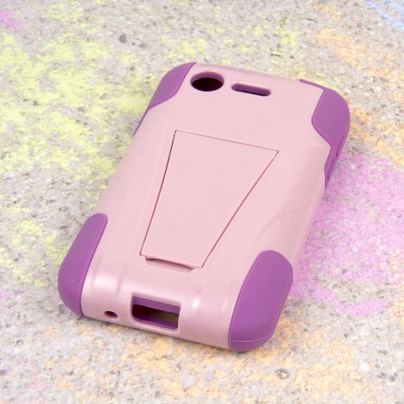 LG Optimus Zone 2 - Pink MPERO IMPACT X - Kickstand Case Cover Angle 3
