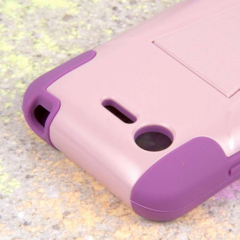 LG Optimus Zone 2 - Pink MPERO IMPACT X - Kickstand Case Cover Angle 6