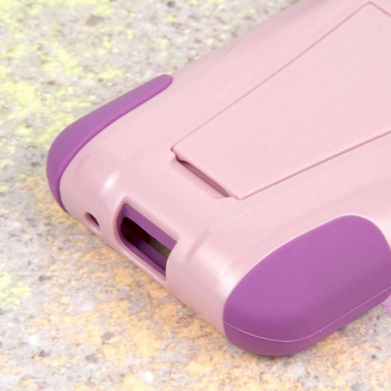 LG Optimus Zone 2 - Pink MPERO IMPACT X - Kickstand Case Cover Angle 7