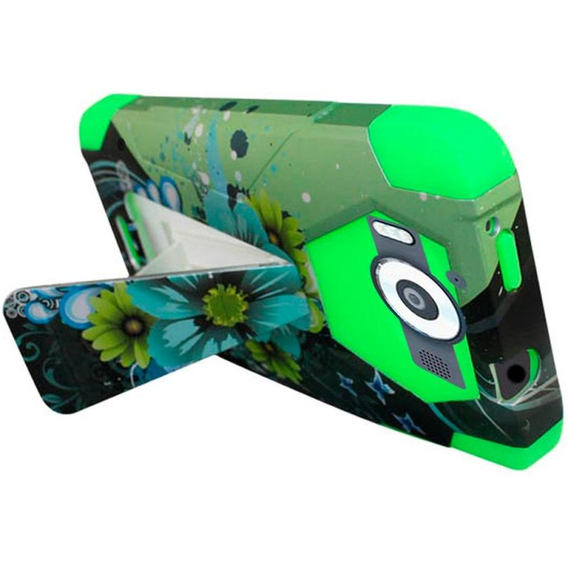 Case Design armor cell phone cases : Microsoft Lumia 950 Design Armor Stand Case Sublime Green Flower ...
