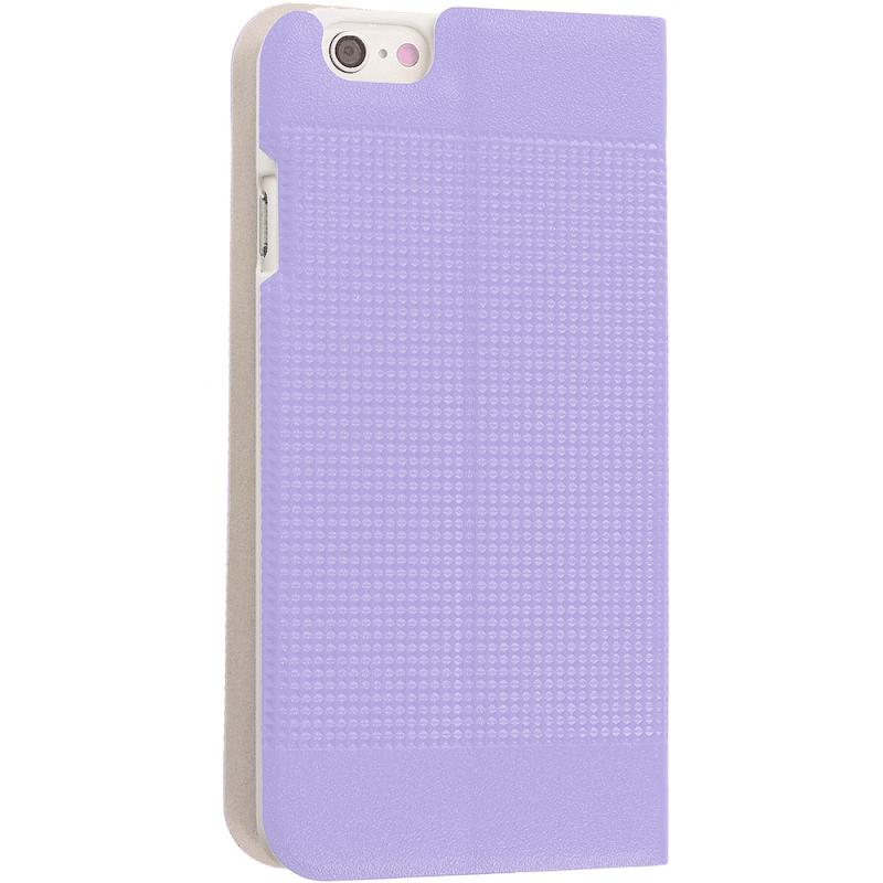 Apple iPhone 6 6S (4.7) Purple Slim Wallet Flip Design Case Cover Angle 5