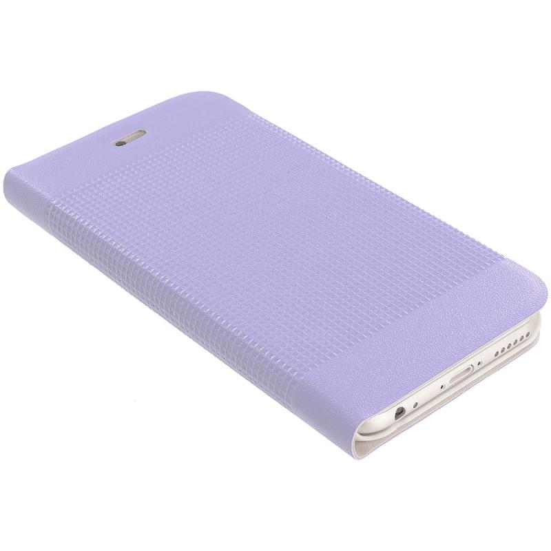 Apple iPhone 6 6S (4.7) Purple Slim Wallet Flip Design Case Cover Angle 6