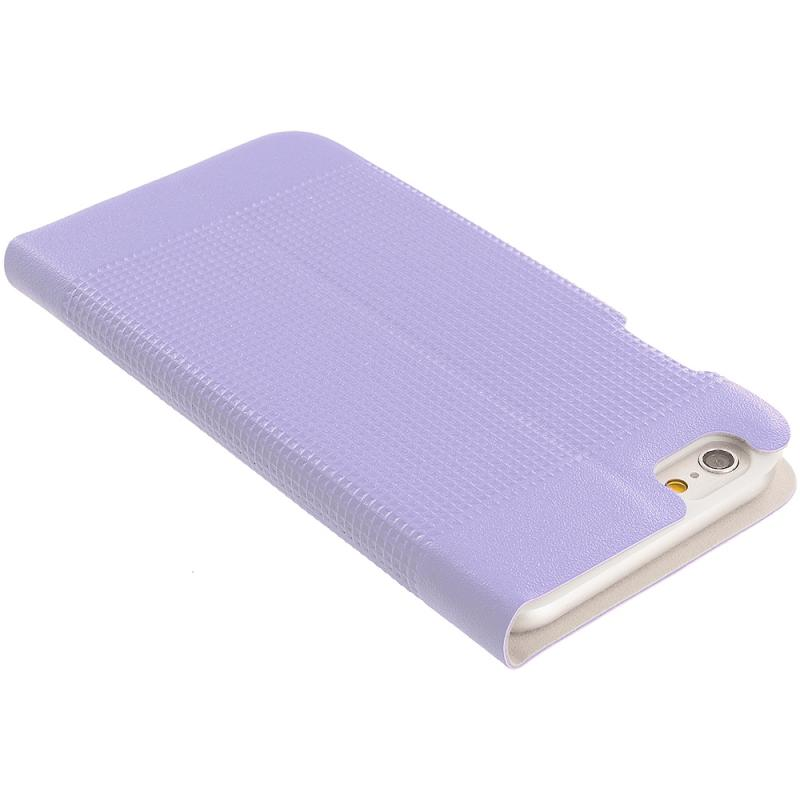 Apple iPhone 6 6S (4.7) Purple Slim Wallet Flip Design Case Cover Angle 7