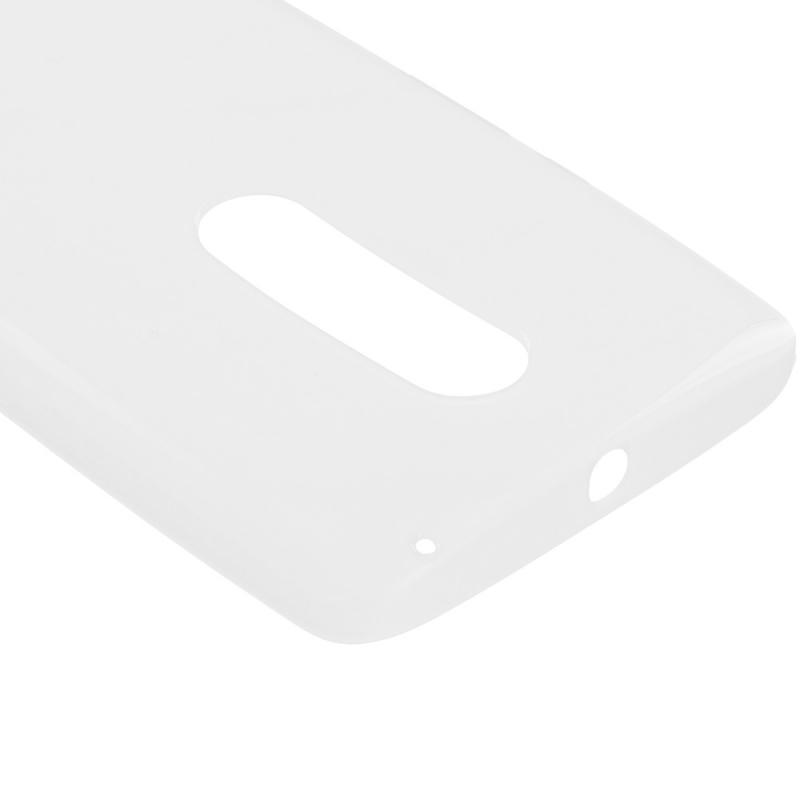 Motorola Droid Maxx 2 XT1565 Clear TPU Rubber Skin Case Cover Angle 3