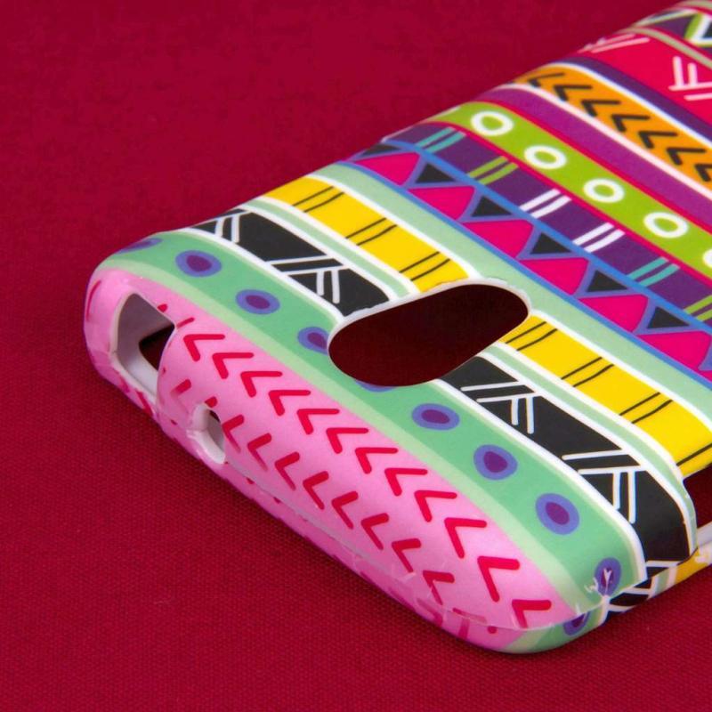 LG verizon lg lucid phone cases : LG Lucid 3 - Aztec Fiesta MPERO SNAPZ - Case Cover Angle 7