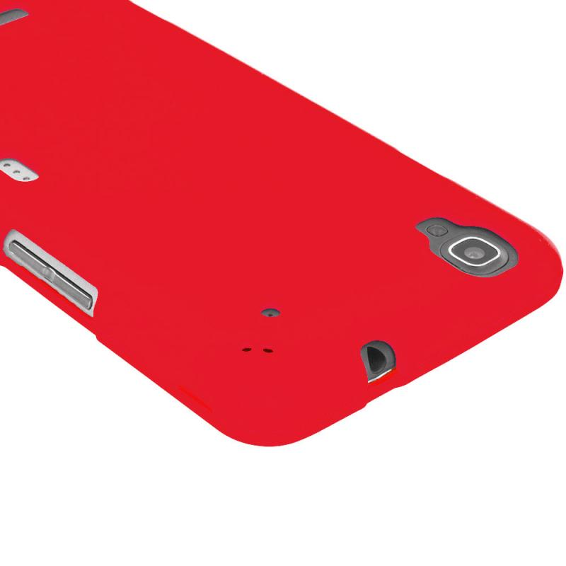 ZTE Boost Max Max Plus + N9521 Red Hard Rubberized Case Cover Angle 3