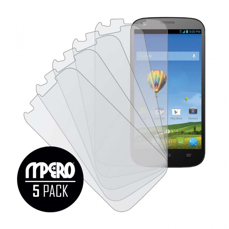 ZTE Grand S Pro MPERO 5 Pack of Matte Screen Protectors Angle 1