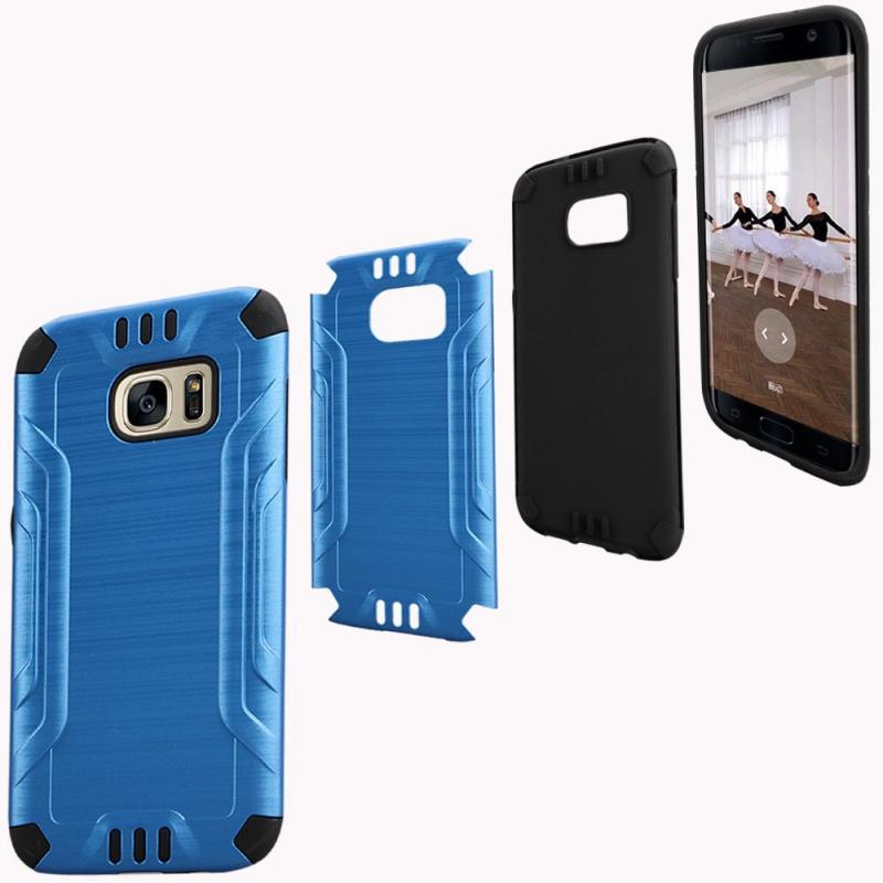 Samsung Galaxy S7 Edge Shockproof Tough Armor Case - Dark Blue ...