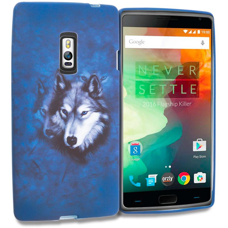OnePlus 2 Two Wolf TPU Design Soft Rubber Case Cover Angle 1