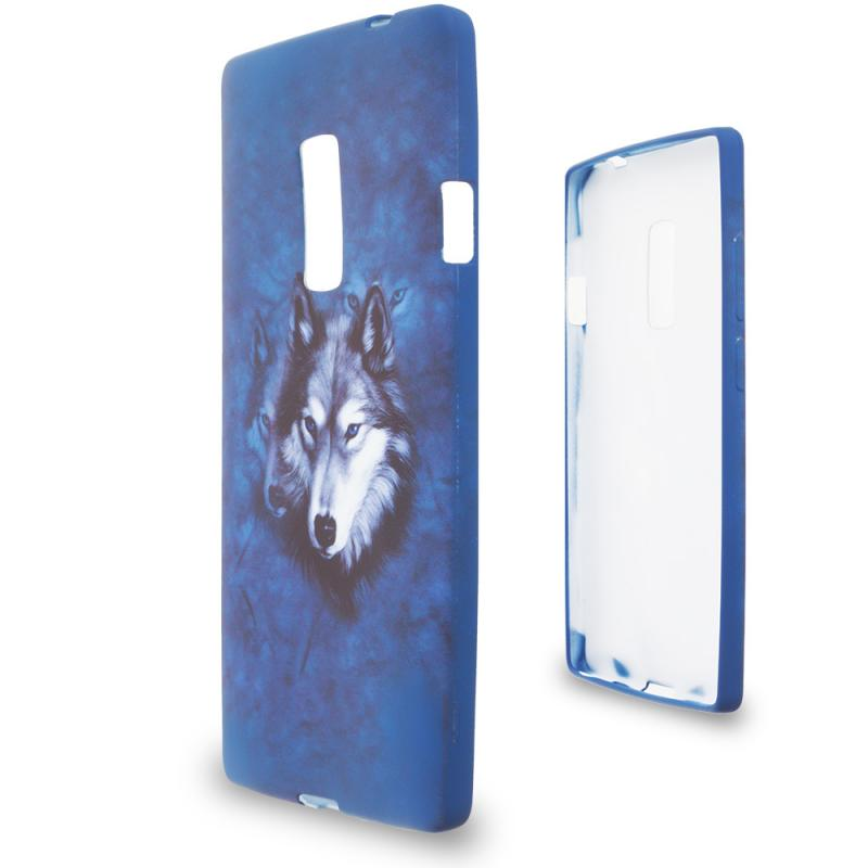 OnePlus 2 Two Wolf TPU Design Soft Rubber Case Cover Angle 2