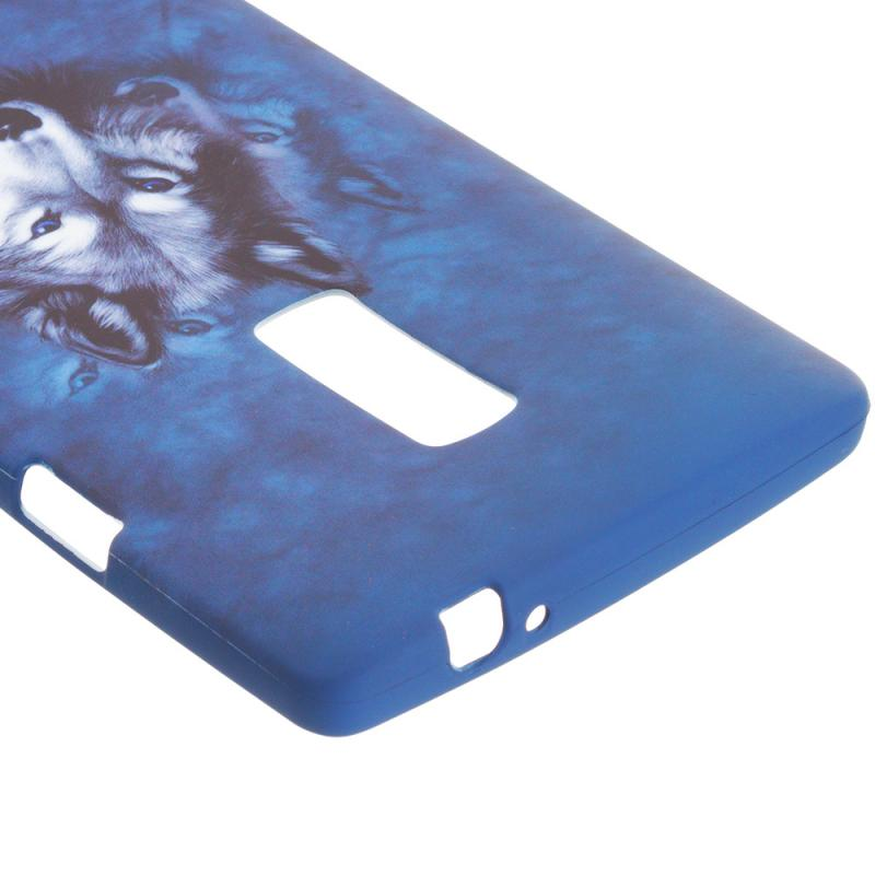 OnePlus 2 Two Wolf TPU Design Soft Rubber Case Cover Angle 3