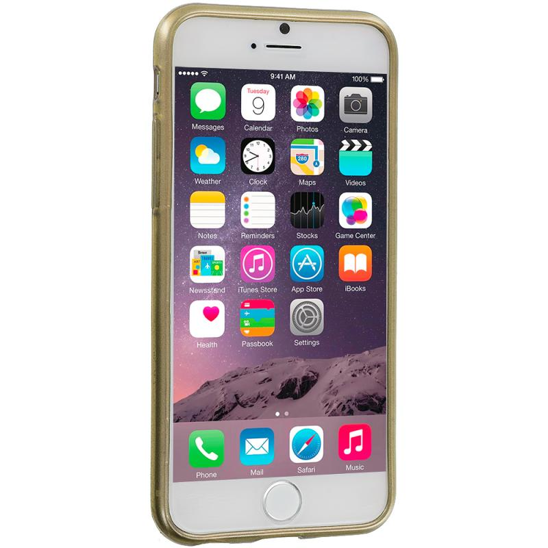 Apple iPhone 6 6S (4.7) Gold TPU Damask Designer Luxury Rubber Skin Case Cover Angle 3