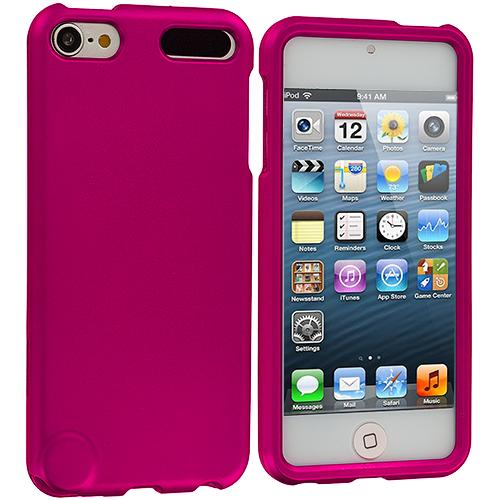 Apple iPod Touch 5th Generation 5G 5 Hot Pink Hard Rubberized Case Cover Angle 1