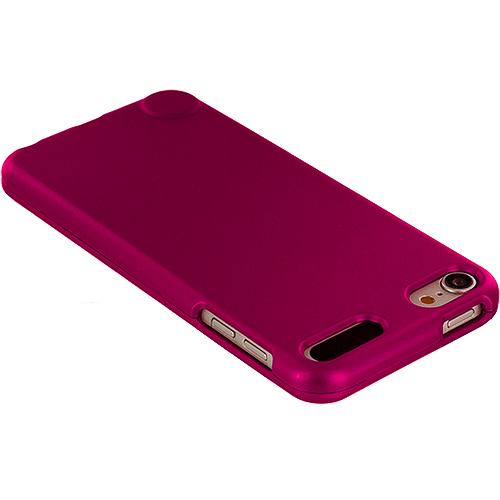 Apple iPod Touch 5th Generation 5G 5 Hot Pink Hard Rubberized Case Cover Angle 3