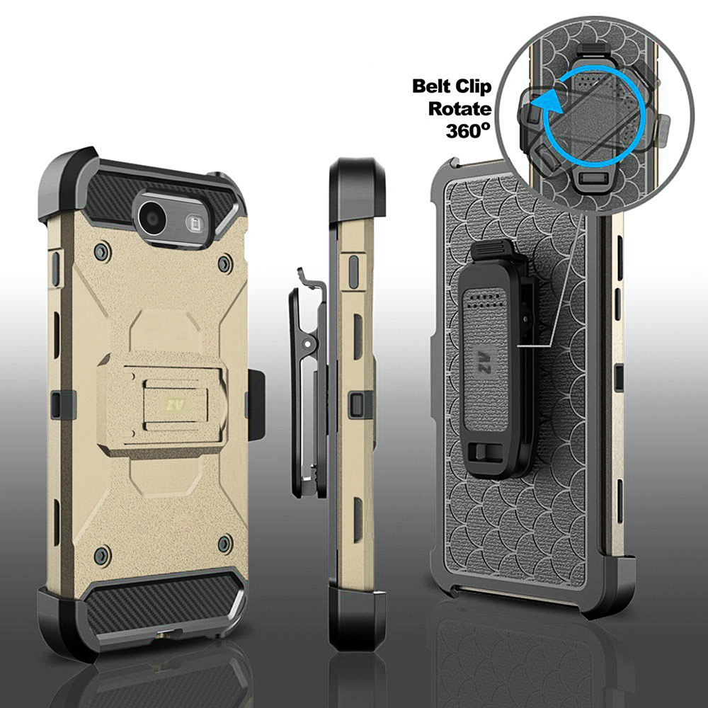 For Samsung Galaxy J3 Emerge Tough Case Defender Holster