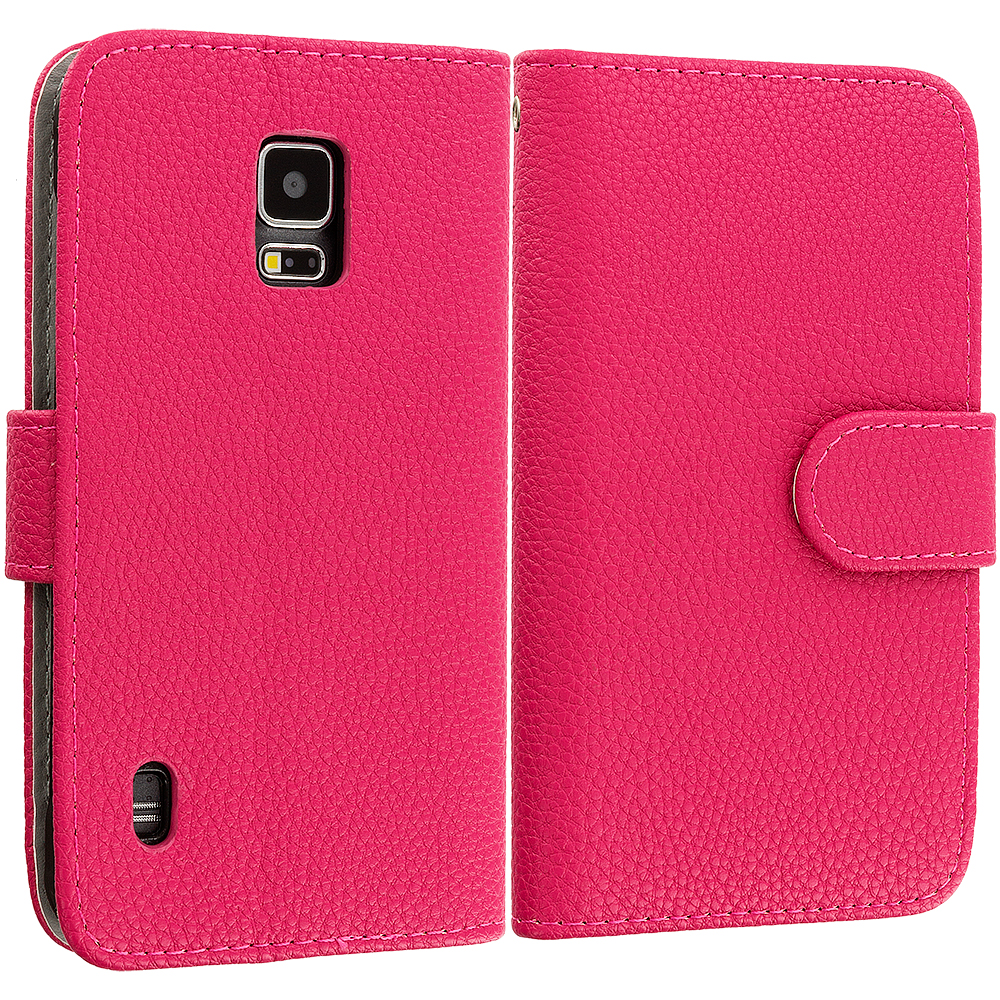 For Samsung Galaxy S5 Active Wallet Flip Pouch Case Cover Card Holder Accessory