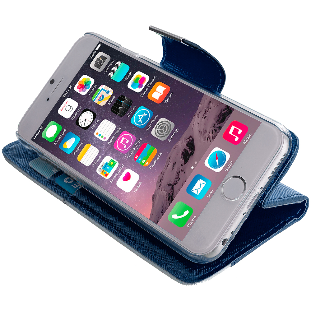 For iPhone 6S PLUS Wallet Magnetic Flap Case Cover ...