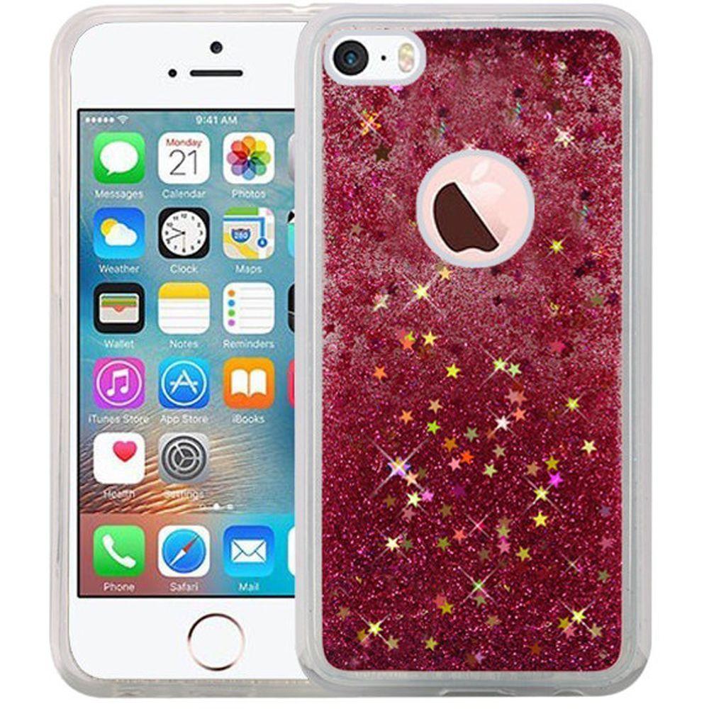 for apple iphone 5 5s se liquid glitter shiny water design. Black Bedroom Furniture Sets. Home Design Ideas