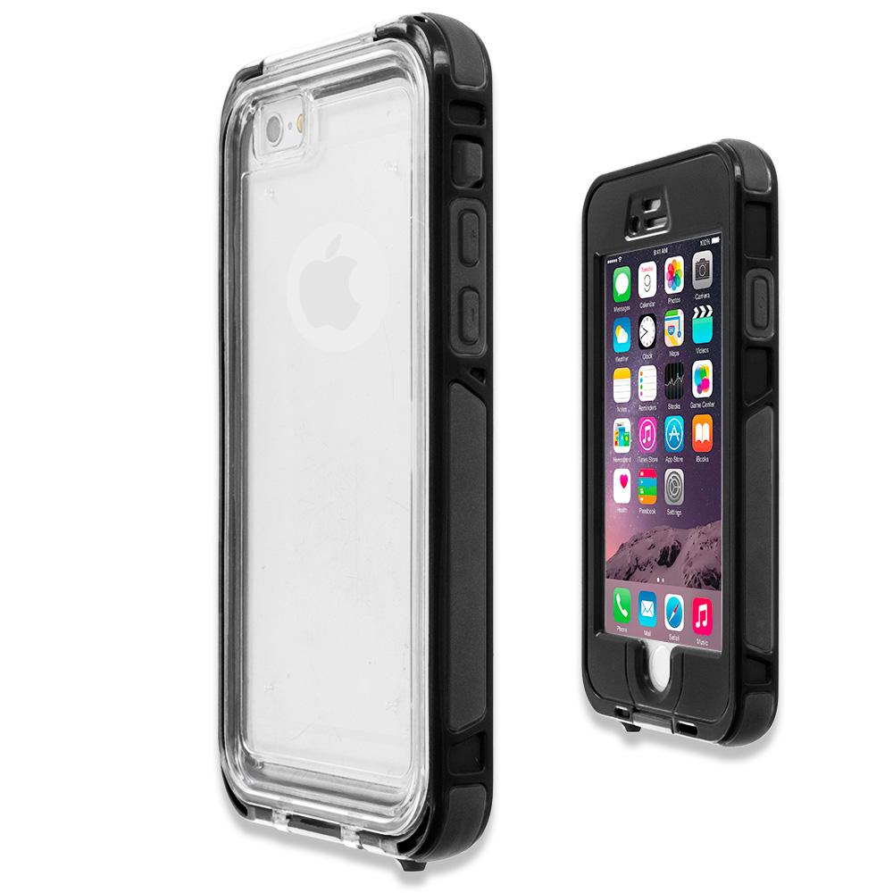 black waterproof shockproof dirtproof hard full protection case cover for apple iphone 6 plus 6s. Black Bedroom Furniture Sets. Home Design Ideas