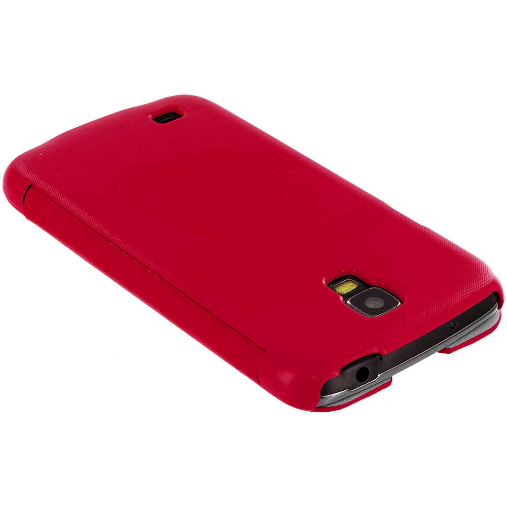 Color-Case-Open-Front-Wallet-Hard-Cover-for-Samsung-Galaxy-S4-Active-i537-Phone