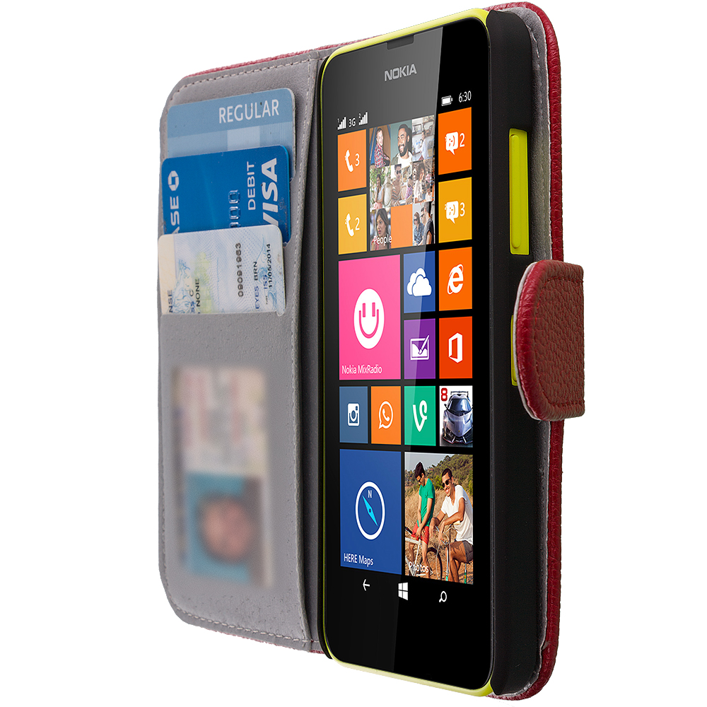 For Nokia Lumia 630 635 Wallet Flip Pouch Case Cover Card