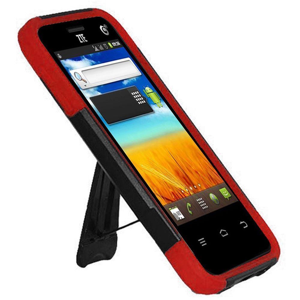 For Zte Uhura N817 Hard Soft Rugged Slim Grip Case Phone